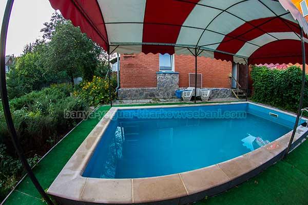 Баня Ягуар - внешний бассейн