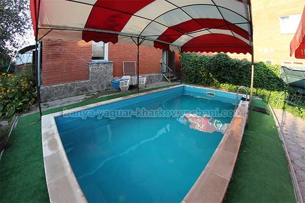 Баня Ягуар - бассейн на улице